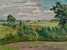 Otto Modersohn, Sommertag - Weg an der Surheide, 1930