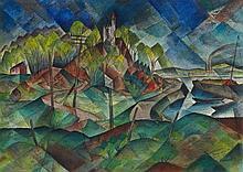 Paul Adolf Seehaus, Wallwitzhafen (Elblandschaft), 1917