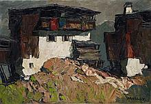 Oskar Mulley, Gehöft in den Bergen,