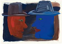 Rainer Fetting, Untitled (Zwei Köpfe), 1983