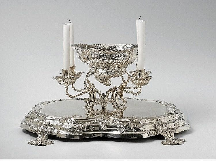 A large Celle silver centrepiece