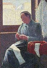 LÉON POURTAU, Portrait de Madame Vallad,  1890