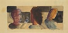 OSKAR SCHLEMMER, Drei Köpfe,  1925