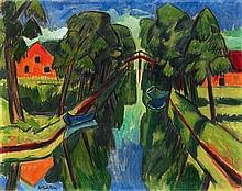 HERMANN MAX PECHSTEIN, Der Mühlengraben,  1921