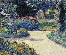 HENRY VAN DE VELDE, Gartenpartie in Kalmthout,  1892