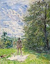 MAX SLEVOGT, Sonnenbad, c. 1921
