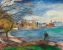 HANS PURRMANN, Langenargen mit Schloss Montfort,  1932