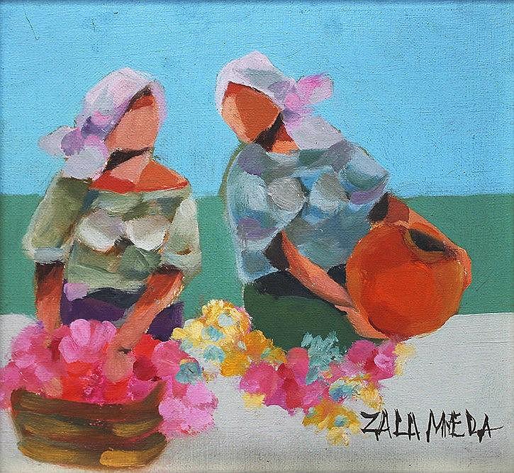 Oscar Zalameda (1930-2010) Flower Vendors