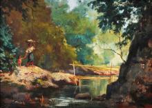 Vicente Rivera y Mir (1872-1954)  Landscape