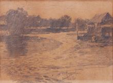 Fernando Amorsolo (1892-1972)  Landscape