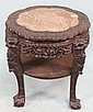 19th CENTURY CHINESE CARVED ROSEWOOD TABLE