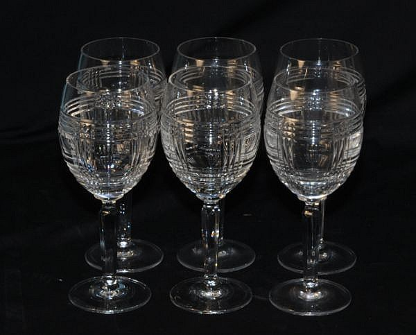 SIX RALPH LAUREN WINE GOBLETS