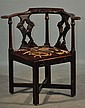 ENGLISH OAK CORNER CHAIR,  CIRCA 1820