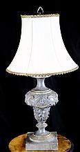 CARVED URN LAMP