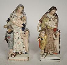 LOT TWO 19th CENTURY OLD PARIS PORCELAIN FIGURES