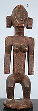 ANTIQUE WOOD CARVED AFRICAN FIGURE