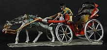 GIANNITRAPANI ITALIAN PORCELAIN HORSE & CARRIAGE