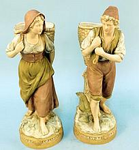 PAIR OF ROYAL DUX PORCELAIN FIGURES