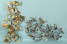 PAIR OF ABSTRACT METAL SCULPTURES