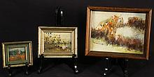 LOT OF THREE EDITH BROWN ABSTRACT PAINTINGS