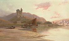 G.B. WISHART OIL ON CANVAS LANDSCAPE PAINTING