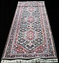 ORIENTAL RUNNER WITH GREEN, RED & IVORY