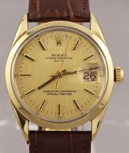 Vintage Rolex Oyster Perpetual Date Automatic Yellow Gold Filled Watch