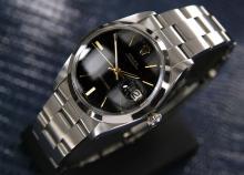 Mens Swiss Vintage Rolex Precision 6694, Black Dial