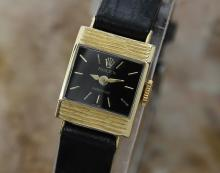 Rare Vintage Ladies Rolex Precision 1950's Petite Solid 18k Gold