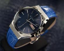 Vintage King Seiko Day Date Quartz, Blue Dial