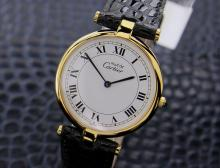 Swiss Must De Cartier Vermeil 18k Gold-plated Over 925 Silver Dress Watch