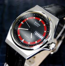 Mens Swiss Vintage Rado Day Date Quartz Dress Watch
