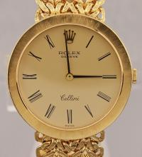 Vintage Rolex Cellini Manual Wind 18k Solid Gold Watch