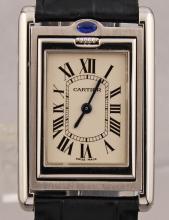 Vintage Cartier Rectangular Quartz Stainless Steel Watch