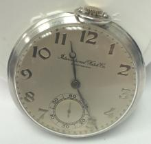 Vintage Verry Rare International Watch Co. Iwc Platinum Manual Pocket Watch