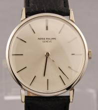 Vintage Patek Philippe 18k White Gold Manual Wind Round Rare Watch