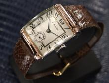 Mens Vintage Longines Rose Gold-plated Mechanical Dress Watch