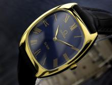 Mens Omega Deville 18k Gold-plated Manual Wind Dress Watch