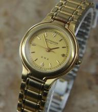 Ladies Swiss Longines Wittnauer Qwr 18k Gold-plated Dress Watch