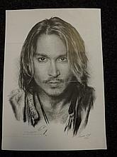 Limited Edition print of Johnny Depp by Jonathan