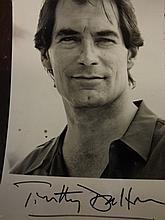 Signed Photo by Timothy Dalton (James Bond)