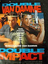 Film Poster Double Impact Starring Jean Claude Van
