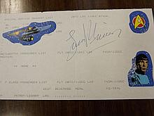 Airline Passenger Ticket for Leonard Nimoy and