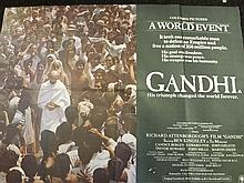 Film Poster of Gandhi Staring Ben Kingsley,