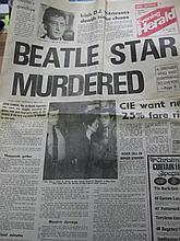 Evening Herald Newspaper (Irish) with Headline