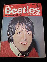 The Beatles Book, Monthly No. 61 Dated Aug 1968