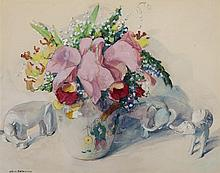 Jane Peterson, American (1876-1965), Floral still life, watercolor, 22 x 28 1/2 inches