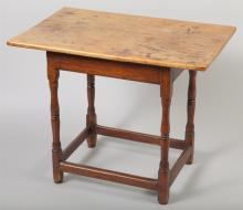 American New England Diminutive Tavern Table, Circa 1750