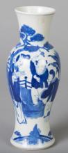 Chinese Kangxi Style Blue and White Porcelain Vase