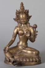 Southeast Asian Bronze Diety, Late 19th Century